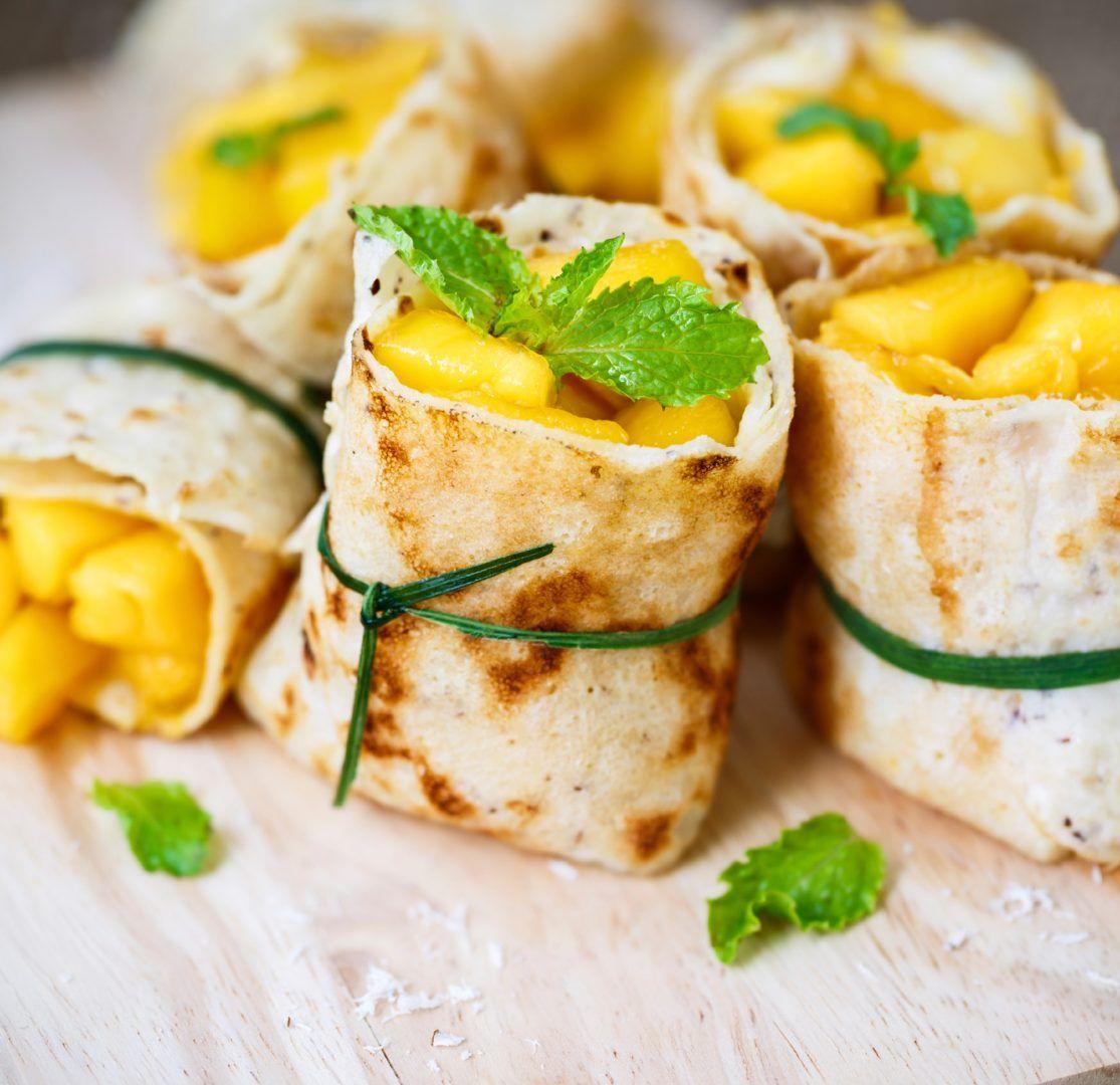 Exotische Mango-Crêpes Variante gerollt von Lidl Österreich