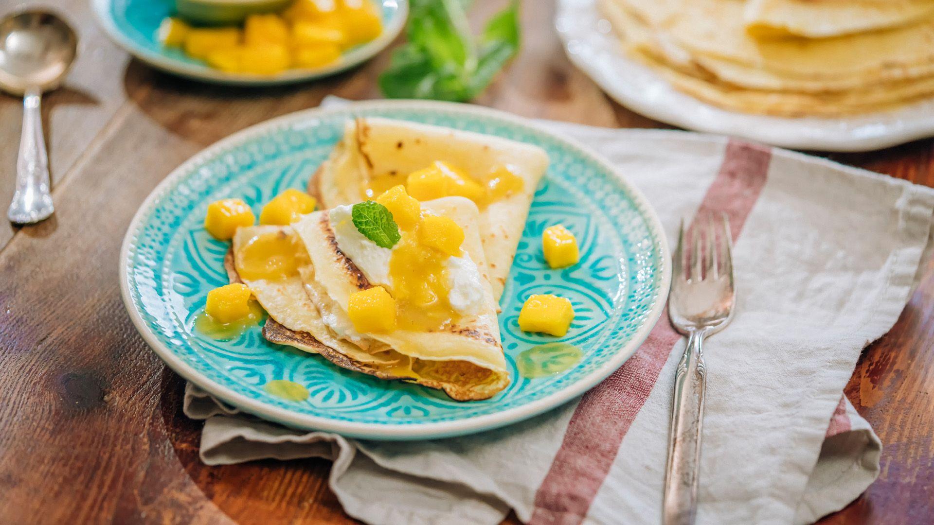 Rezept für Exotische Mango-Crêpes von Lidl Österreich