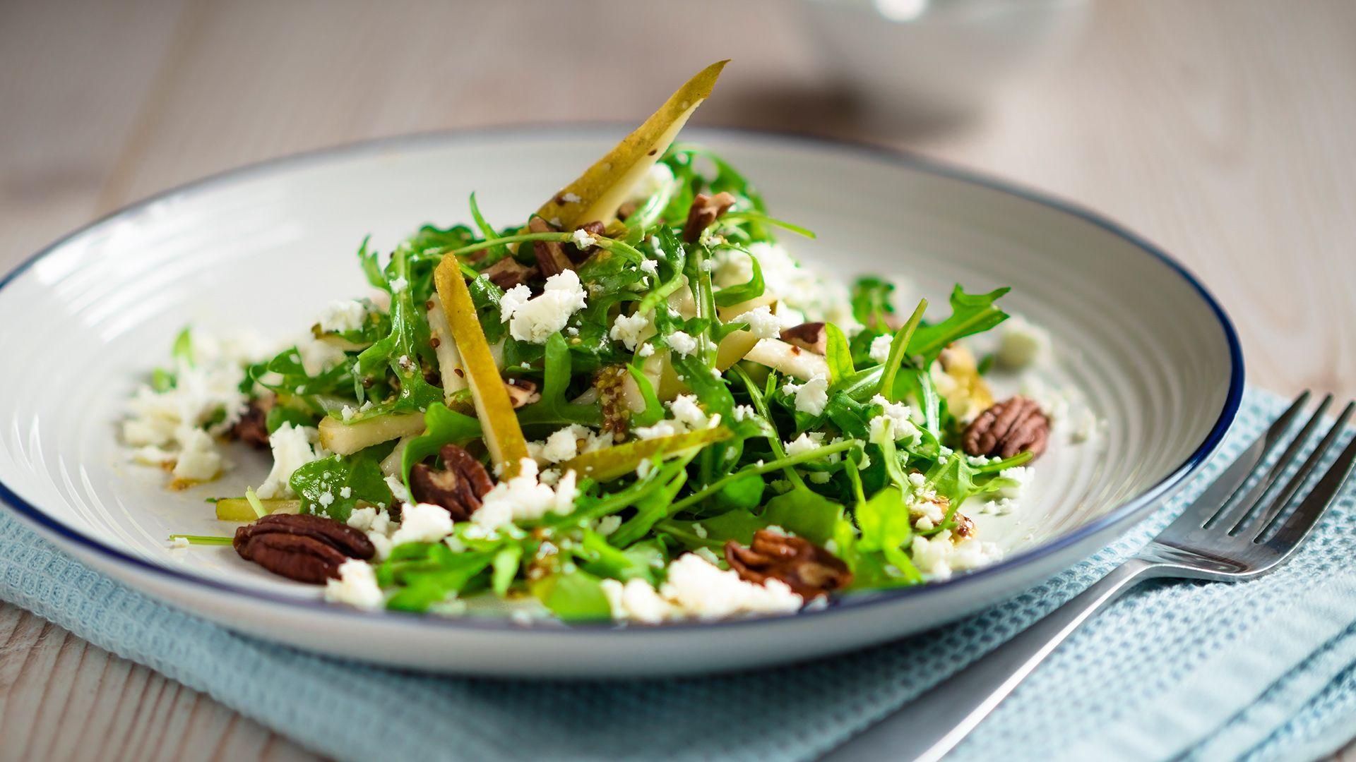 frischer rucola birnen salat jetzt ganz einfach nachmachen. Black Bedroom Furniture Sets. Home Design Ideas