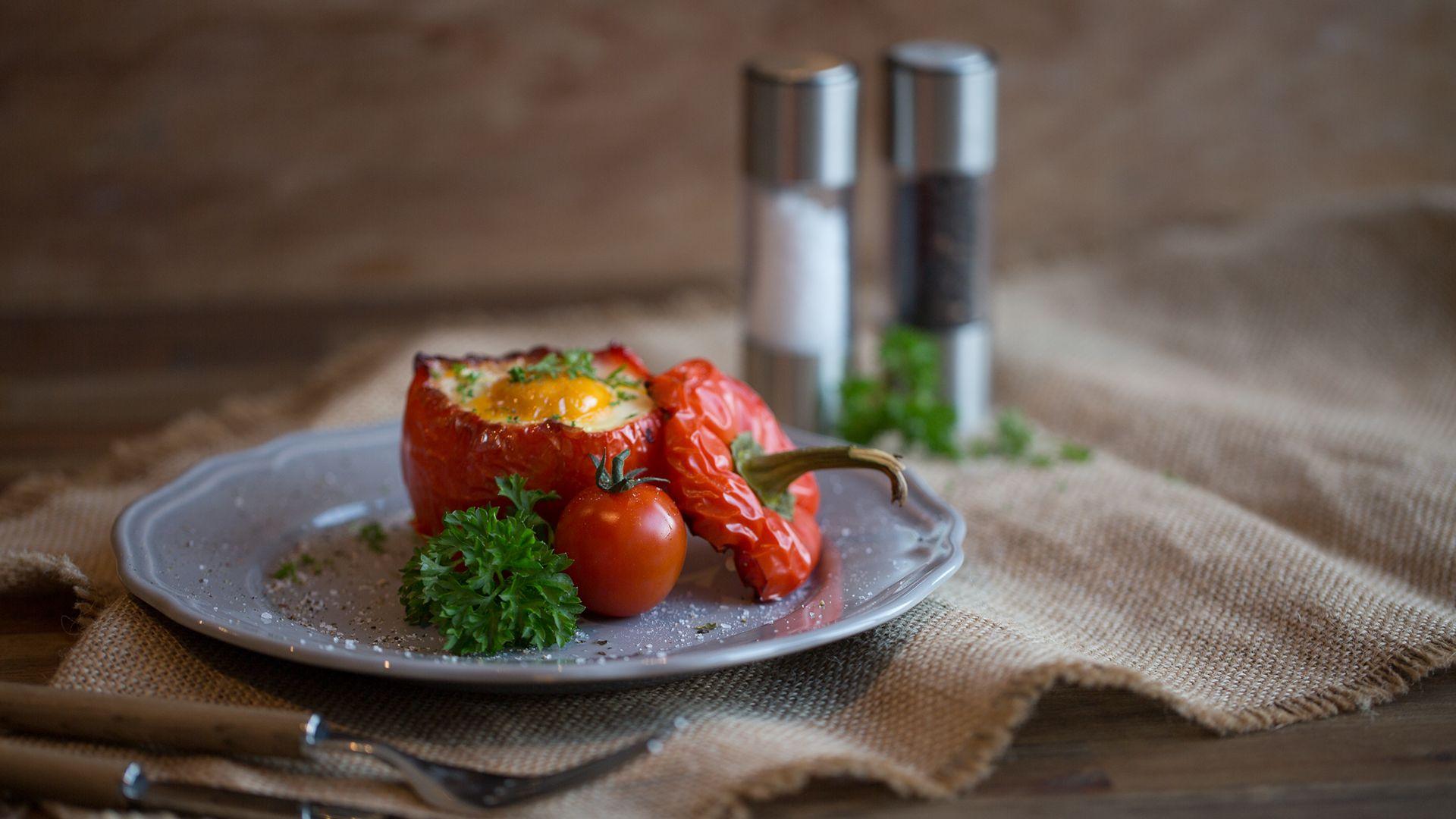 Gefüllte Paprika mit Spiegelei von Lidl Österreich