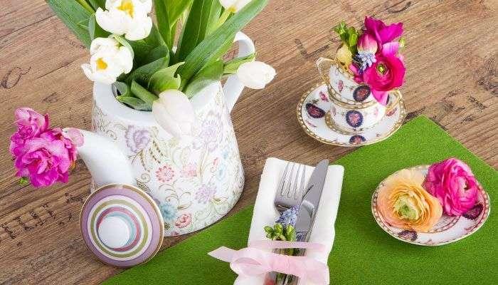 Frühlingshafte Tischdekoration mit Tulpen von Lidl Österreich