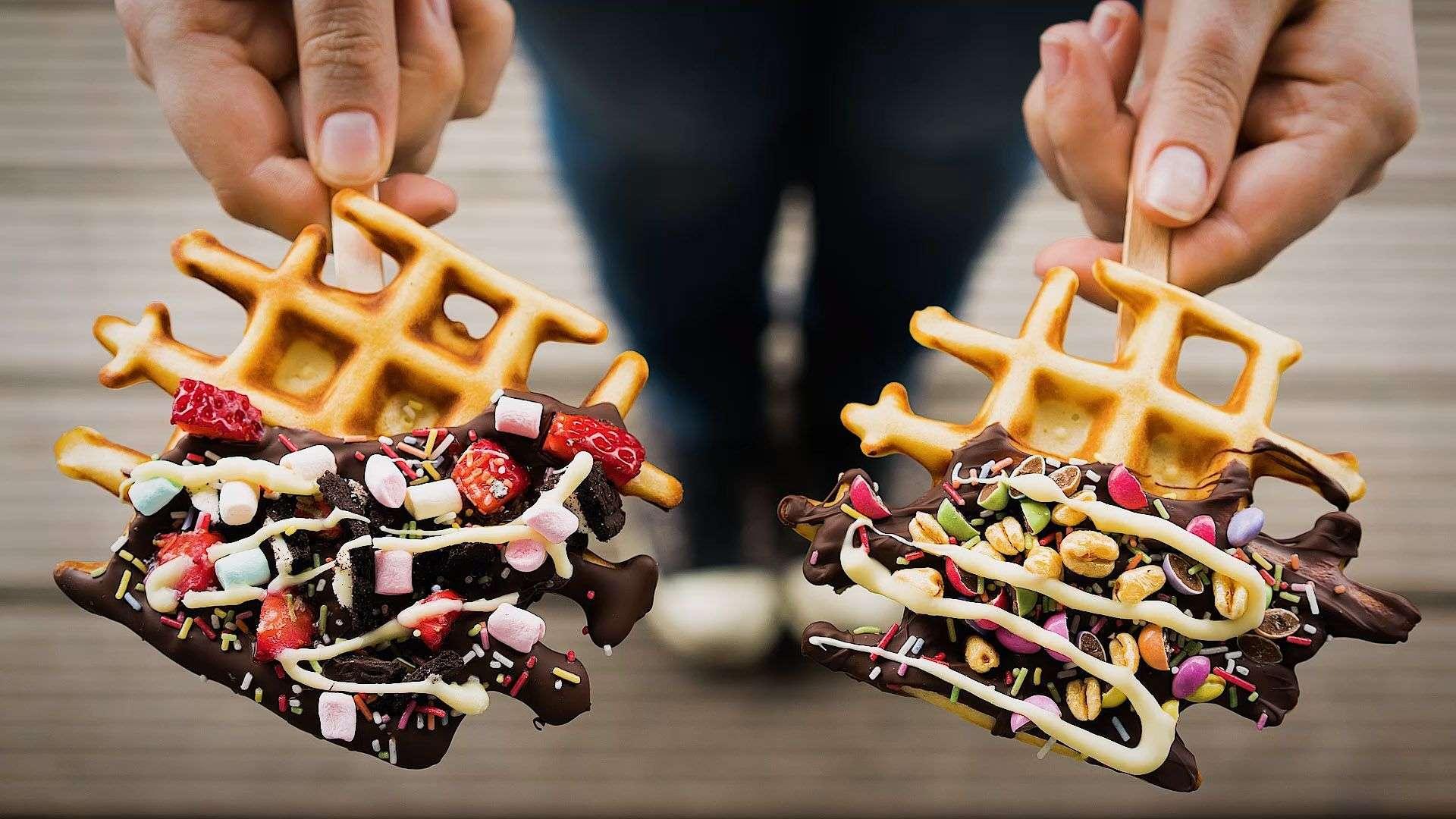 Rezept für süße Waffle-Pops von Lidl Österreich