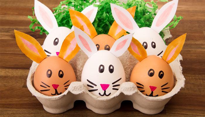 Dekoration Ei Ostern Osterei Hasen Eier anmalen DIY Idee lustig