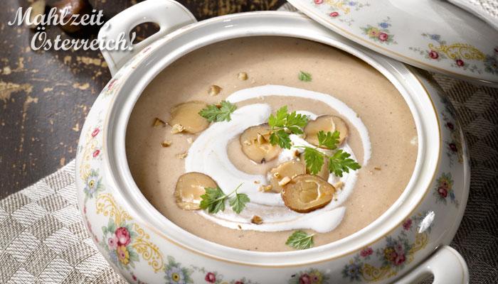 Rezept vegetarisch Veggie Maroni Suppe herzhaft köstlich Herbst Winter Gericht