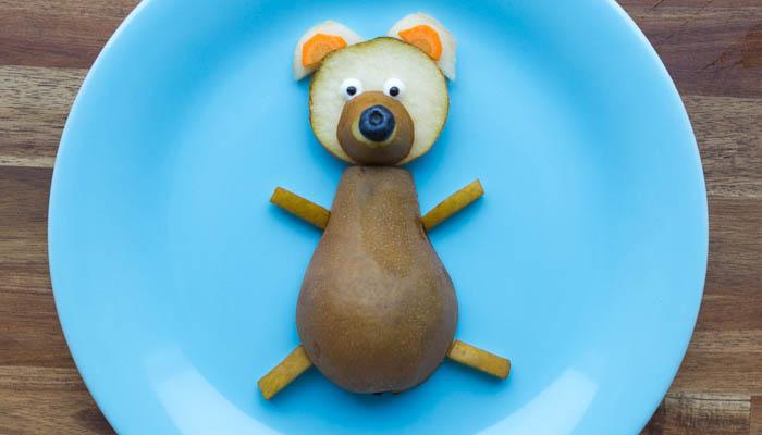 Birnenbär Foodie Kinder Obst gesund süß lecker Gemüse Blaubeeren Karotte Kids